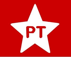 Flag of the successful Brazilian Workers Party