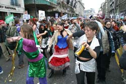 Samba girls give it some on the Stop the War March, London, 15th Feb 2003